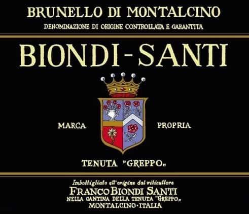 Brunello di Montalcino Biondi Santi tenuta il Greppo