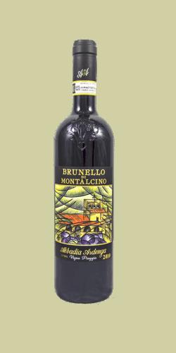 Abbadia Ardenga Brunello di Montalcino 2013: vino rosso invecchiato, bottiglia da 750ml.
