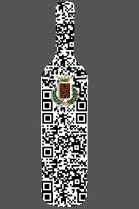 QR Code Google maps a forma di bottiglia bordolese.