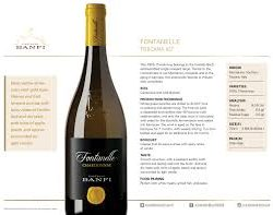 Castello Banfi Chardonnay. Vylla Banfi Fontanelle ChardonnayFontanelle 2017 Toscana I.G.T