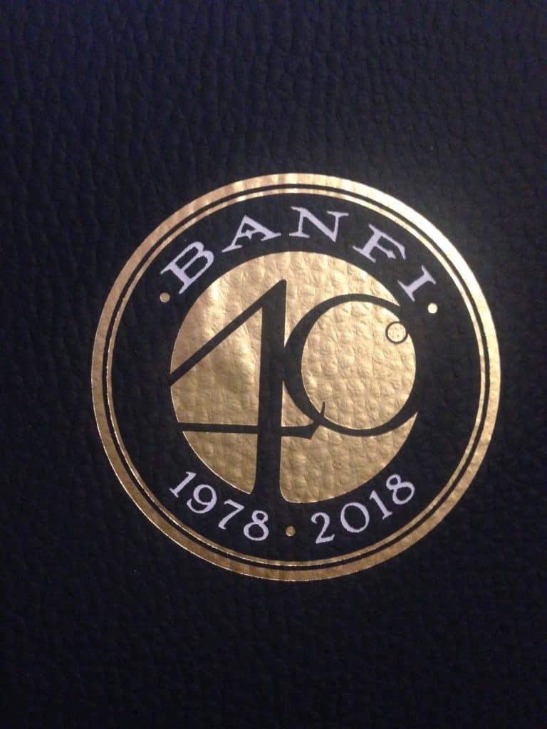 Logo Banfi 40 per celebrare i 40 anni della tenuta Banfi.
