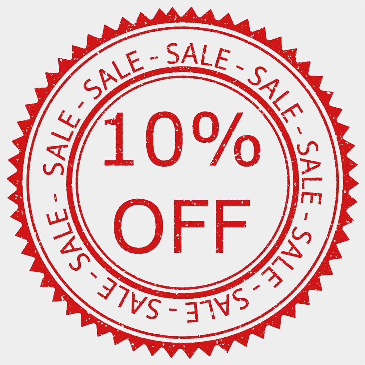 Badge coupon sconto 10% su tutte le bottiglie!